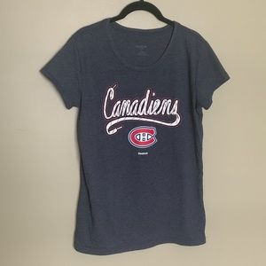 Reebok Montreal Canadiens blue tee size XL